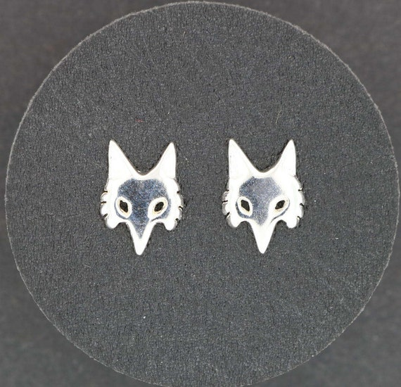 Fox Stud earrings in Sterling Silver