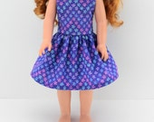 """14.5"""" Doll Clothes - AG Wellie Doll Dress - Wisher Doll Clothes - 14 inch Hearts for Dress - H4H Dress  - HFH Girl Dress - Wishers wish"""