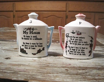 My House Poem Salt and Pepper Shakers