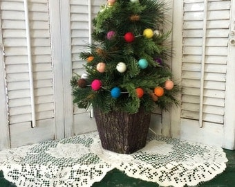 White String 10ft Garland Felt Ball Garland White String Party Decorations