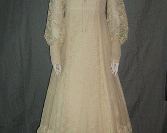 1970's Gunne Sax Dress Boho Dress Wedding 70s Maxi Dress Hippie Vintage Gown Prairie Long Sleeve Renaissance Romantic Med unworn