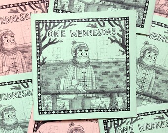 One Wednesday - Comic, diary comic, perzine, hourly comic day