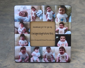 Baby's First Year Collage Picture Frame, Unique Mother's Day Gift ...