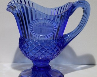 Fenton Cobalt Blue Mt. Vernon Sauce Pitcher