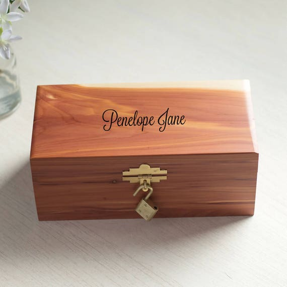 Personalized Cedar Wood Keepsake Box: Child's Treasure Box, Personalized Kid's Keepsake Box, Child's Keepsake Box, Engraved Keepsake Box