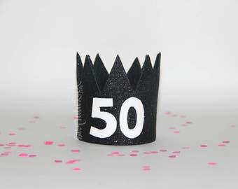 50th Birthday Crown || Birthday GLAM crown || Ready to Ship || by Born TuTu Rock