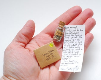 Letter and fairy dust from the Tooth Fairy set-- tiny and customizable