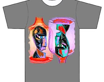 t shirt pink buttle hand made t-shirts