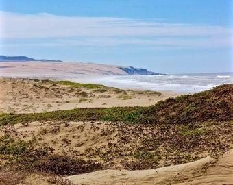 Pismo Dunes photo card, Beach Dunes photo card, Any Occasion photo card, ocean photo card, blank photo card, beach photo card, beach scene
