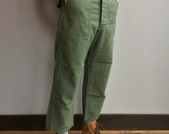 Vintage 32-36 Waist SIZE OPTIONS 60s 70s OG 107 Army Pants | Vietnam Military Utility Pant | Olive Green Fatigue Utility Pant |