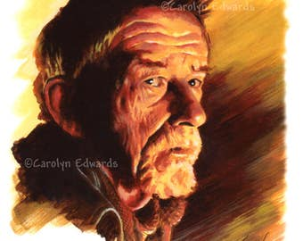 DOCTOR WHO - War Doctor ~ John Hurt. Signed, numbered Limited Edition A4 Art Print (29.7 x 21 cm)