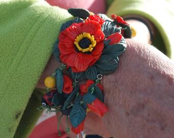 poppies/bracelet