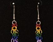 Pride Collection - Rainbow Pride Shaggy Loop Earrings
