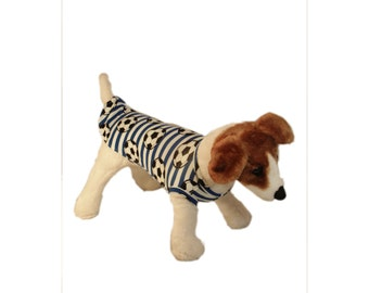 Dog clothing - Blue football Top available in Sizes XS,S,M,L &XL