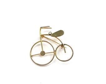 I like to ride my Bicycle   Vintage Bicycle Brooch Bicycle Pendant Bike Brooch Bike Pin
