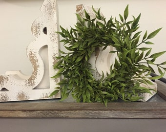 Farmhouse Faux Greenery Wreath | Fixer Upper Style