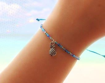 Pineapple Best Friend Gift - Friendship Bracelet - Best Friend Bracelet - Bridesmaid Gift - Beaded Bracelet - Boho Jewelry