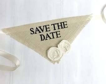 Custom Flower Color Dog Wedding Bandana Engagement Photos Save the Date Cards Dog of Honor Collar Girl Flowers Proposal Wedding Accessories