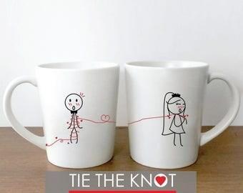 Wedding Coffee Mugs, Bride and Groom Coffee Cups, Wedding Present, Wedding Gifts for Couple, Funny Wedding Gift, Wedding Shower Gifts