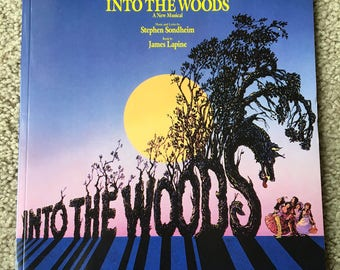 Into The Woods, Vocal, Piano, Musical Theater, Broadway, Musicals, Music, Print Music, Sondheim, Bernadette Peters, Musical Score