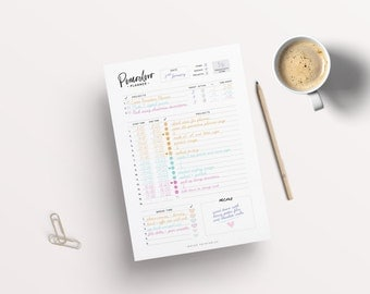 Pomodoro Planner, Productivity Planner, Business Planner, A5 Planner Pages, Printable Inserts, Student Planner, Printable Planner, Success