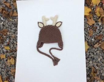 Deer hat with antlers
