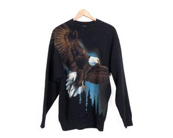 Vintage 90s Oversized Eagle Sweatshirt Size L
