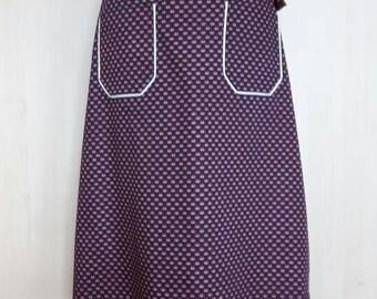 1970s wrap around cotton print summer skirt