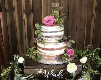 average size of wedding cake table rustic cake stand etsy 10946