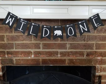 WILD ONE Banner... First Birthday... Baby Boy... Party Ideas... Party Decor...