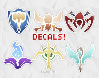 League of Legends Decals / Vinyl Stickers - Tank, Fighter, Assassin, Mage, Marksman, Support