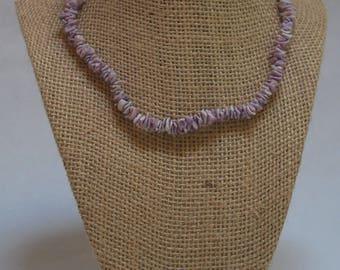 Purple Crazycut Shell Choker