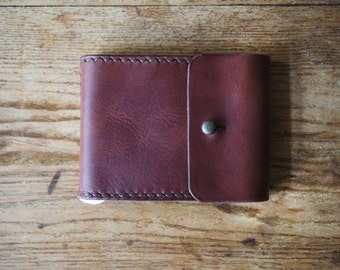 Leather wallet, leather bifold wallet, money clip wallet, purse, card holder,leather gift