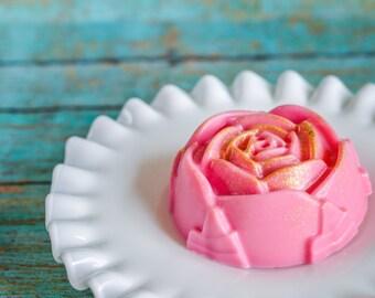 Rose Soap, Champange Rose, Flower Soap, Floral Soap, Bridal Shower Favors, Goat Soap, Glycerin Soap, Melt and Pour Soap, Artisan Soap