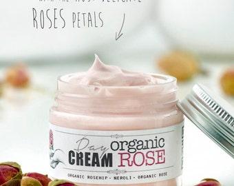 ORGANIC ROSE Day Cream • Moisturizing facial cold cream with organic Rosehip.