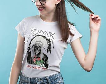 Yeezus shirt Unisex sizes Kanye West t shirt Printed shirt Tumblr t shirt Yeezus Men's shirt Graphic tee  Women shirt Kanye west tee YP149