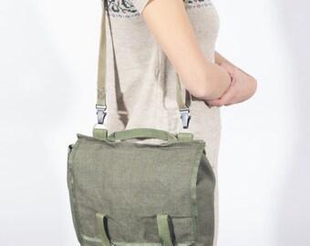 Messenger Bag, Canvas Messenger Bag, Military Bag, Canvas Cross Body Bag, Canvas Hipster Shoulder Bag, Men Messenger Bag, Camping Gear