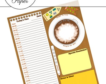 Coffee Daily Planner Page - Printable