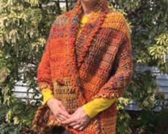 Prayer Shawl, Autumn Harvest - free shipping
