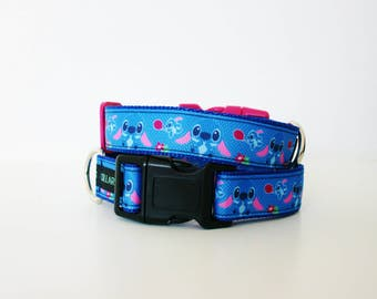 Lilo Stitch Disney Dog Collar or Matching Lead Seat Belt