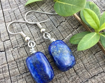 Lapis Lazuli Stones . Earrings