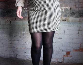 JIL SANDER 1990's Checked Wool Mini Skirt, made in Germany