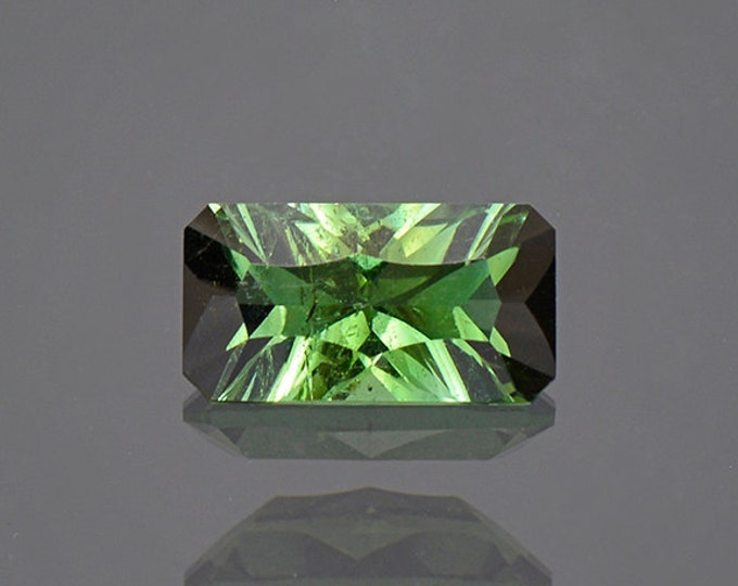 UPRISING SALE! Concave Cut Green Tourmaline Gemstone from Brazil 1.25 cts.