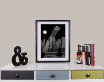 Batman Print, Minimalist Movie Poster