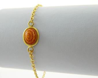 Mandala Bracelet in Red & Yellow