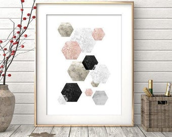 Digital Print, Printable Wall Art, Abstract Art, Geometric Print, Abstract Print, Scandinavian Art, Affiche scandinave, Scandinavian Print