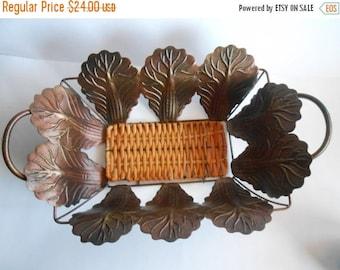ON SALE Vintage Iron Basket, Vintage Metal Bowl, Farmhouse Metal Basket, Cottage Decor, Bread Basket, Vintage Metal Fruit or Display Basket,