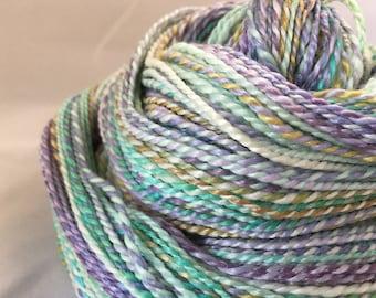 Handspun DK Weight Yarn 256 Yards 50/50 bamboo wool OOAK