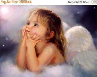 Little angel Cross Stitch Pattern Pdf angel pattern embroidery, kreuzstitch - 331 x 248 stitches - INSTANT Download - B440
