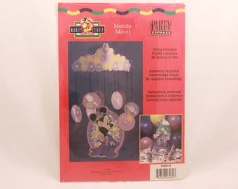 "Vintage Hallmark Party Express Disney ""Minnie Mouse"" Party Mobile."